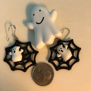 Halloween pin and earrings
